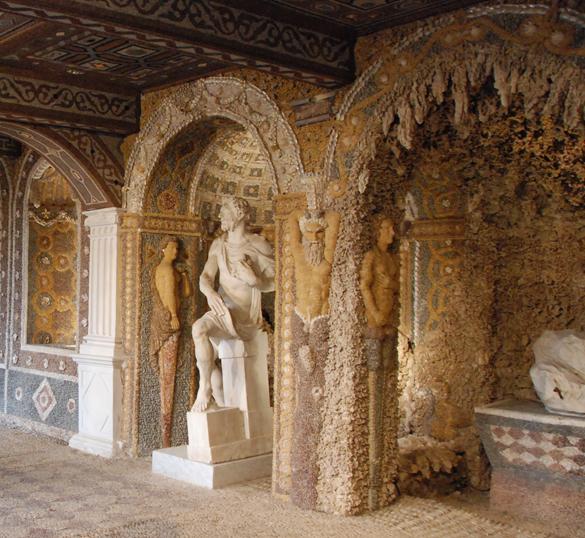 la grotte de rocaille de la Bastie d'Urfé